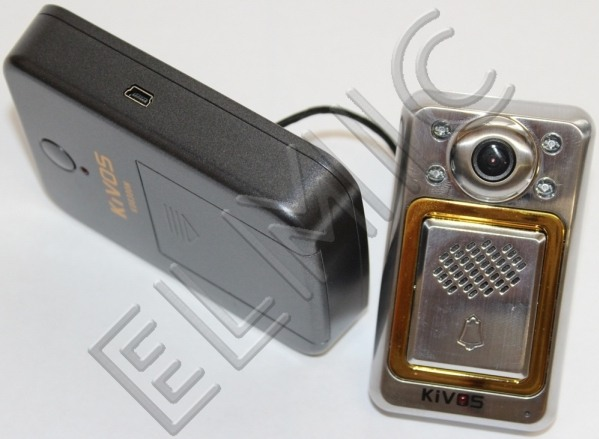 Wideodomofon bezprzewodowy - wideo wizjer do drzwi zewnętrznych ELMIC KIVOS KDB300m4 KDB300m4-1-1 - zestaw 1 monitor 1 kamera