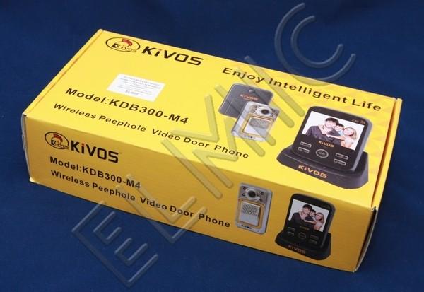 Wideo domofon bezprzewodowy wizjer do drzwi ELMIC KIVOS KDB 300m4 - opakowanie  - zestaw KDB300m4-1-1