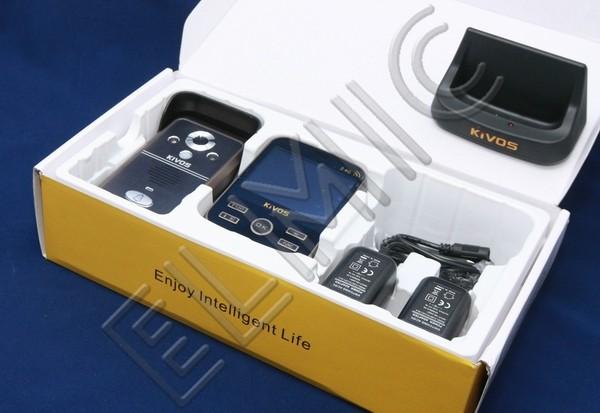 Wideo domofon bezprzewodowy ELMIC KIVOS KDB 301 - opakowanie  - zestaw KDB301-1-1