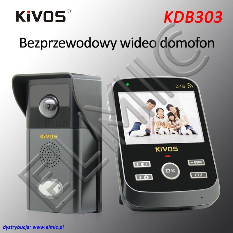 ELMIC KIVOS KDB303 - wideodomofon bezprzewodowy