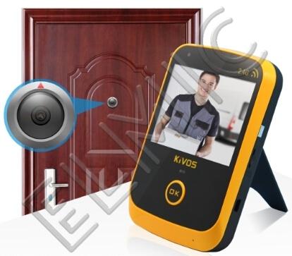 Wideo wizjer bezprzewodowy - wideo wizjer do drzwi zewnętrznych ELMIC KIVOS KDB307