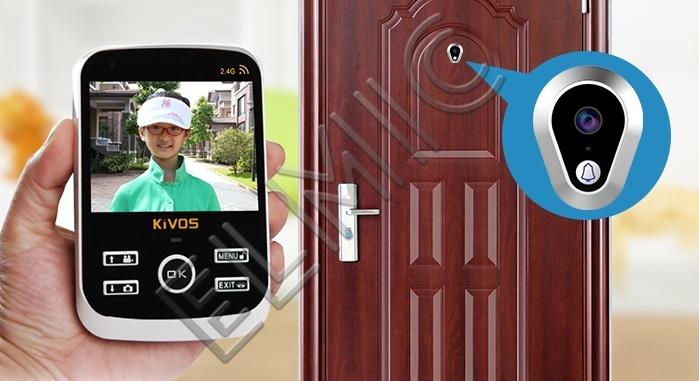 Wideo wizjer do drzwi zewnętrznych z funkcją dzwonka ELMIC KIVOS KDB307a