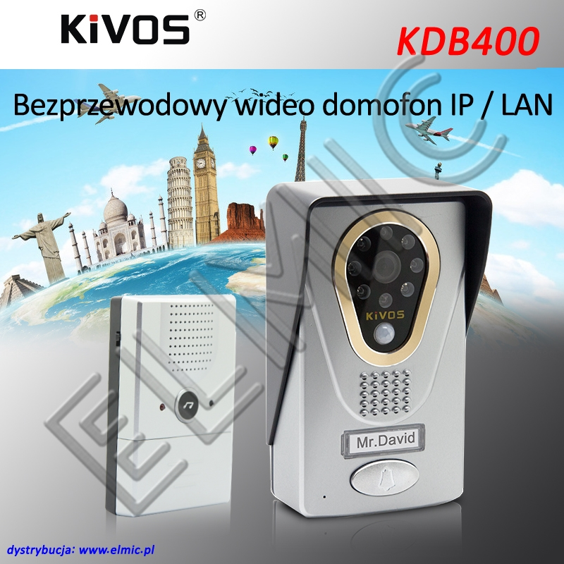 ELMIC KIVOS KDB400 Wideodomofon WiFi LAN IP