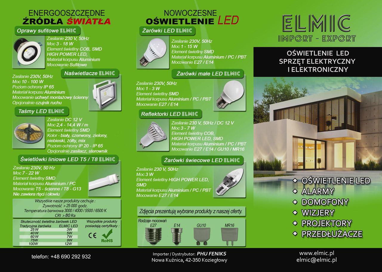 Ulotka reklamowa - oświetlenie ELMIC