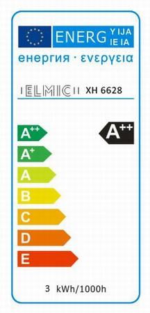 Etykieta energetyczna ELMIC - żarówki ELMIC XH628