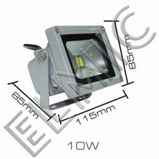 Reflektor naświetlacz LED ELMIC XHF wymiary