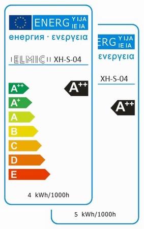 Etykieta energetyczna ELMIC Żarówka LED XHS04