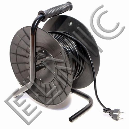 Przedłużacz elektryczny zwijany bębnowy ELMIC WSDT15 na zwijaku, 4 gniazda H05VV-F