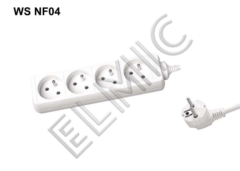 Przedłużacz elektryczny listwa bez włącznika wyłącznika