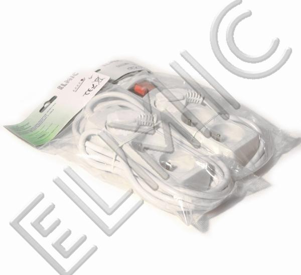 Przedłużacz elektryczny listwa bez włącznika wyłącznika ELMIC