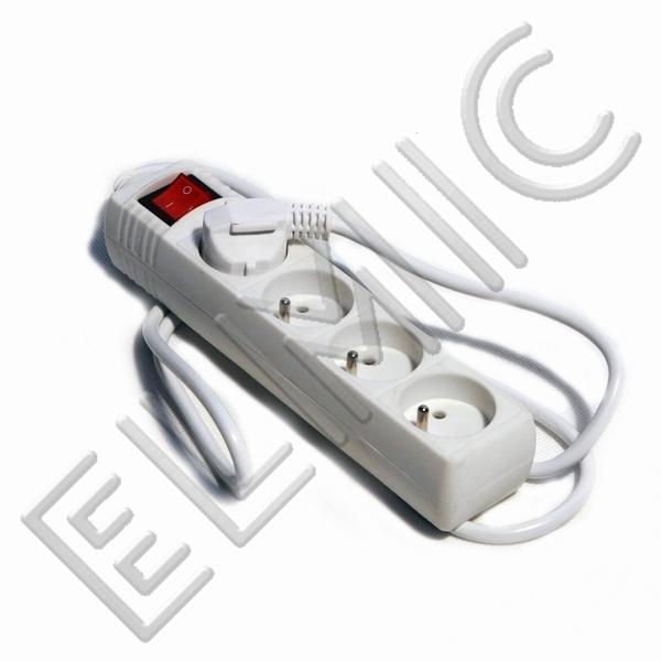 Przedłużacz elektryczny listwa z włącznikiem wyłącznikiem ELMIC