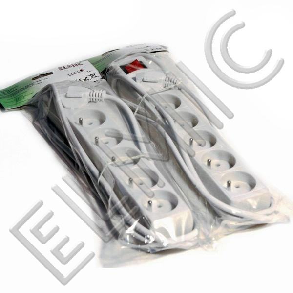 Przedłużacz elektryczny listwa bez włącznika wyłącznika z włącznikiem wyłącznikiem ELMIC