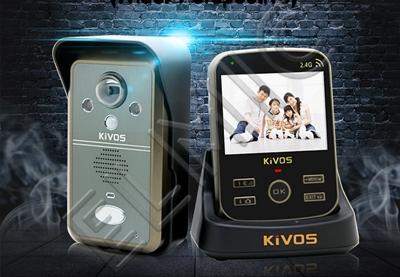 Wideo domofon - wideodomofon bezprzewodowy radiowy ELMIC KIVOS KDB 302 zestaw 1 monitor 1 kamera