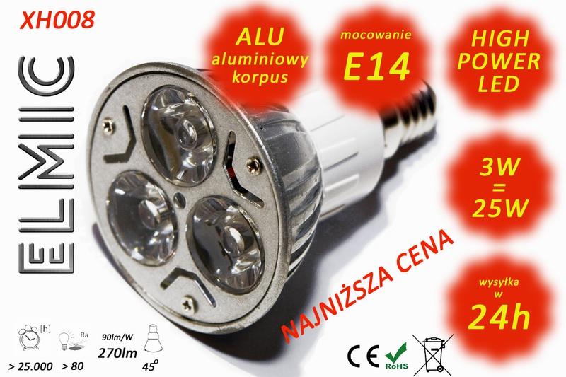 Żarówka LED ELMIC XH 008 3W E14