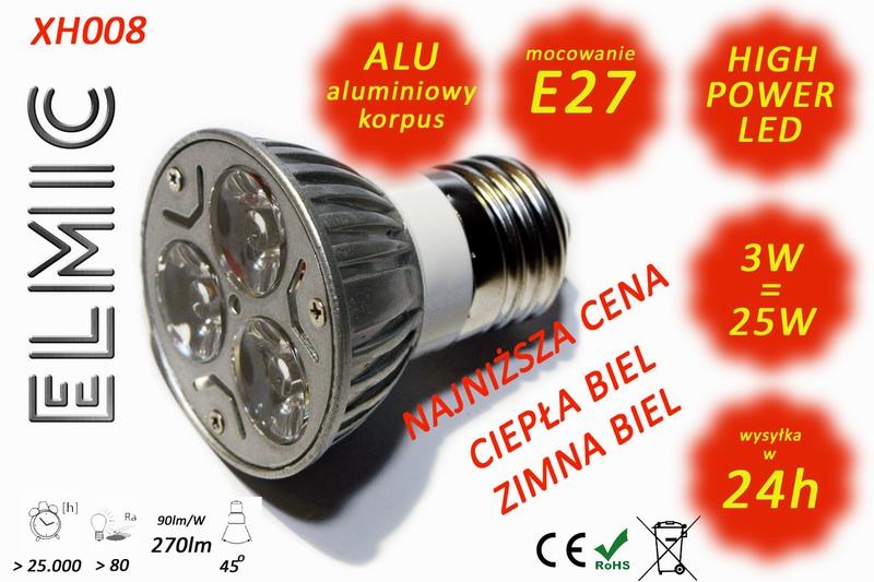Żarówka LED ELMIC XH 008 3W E27