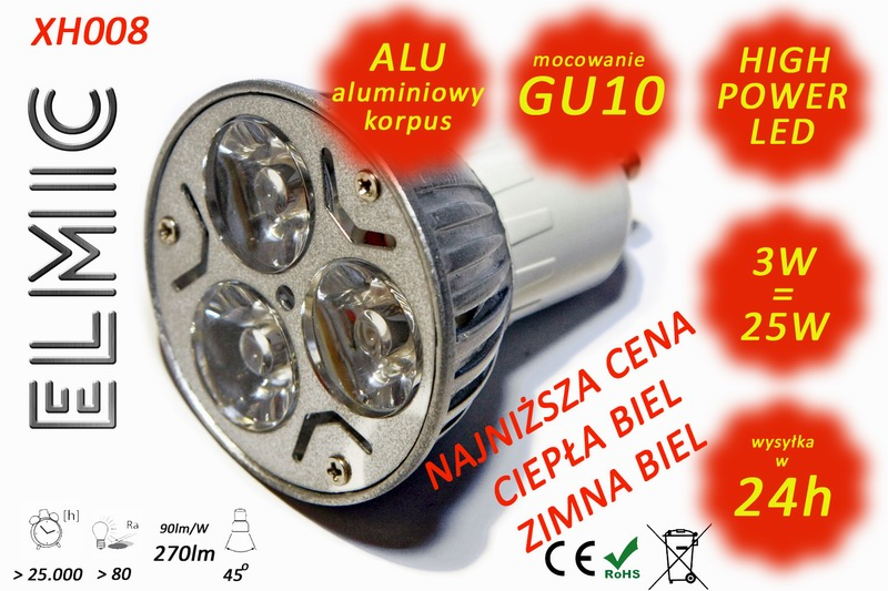 Żarówka LED ELMIC XH 008 3W GU10