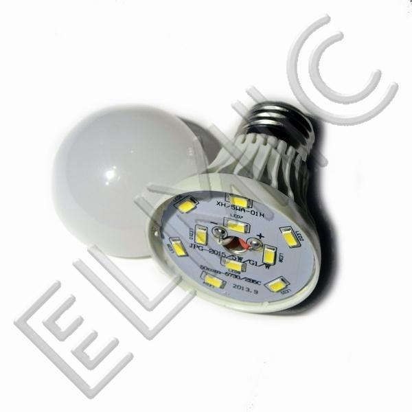 Żarówka LED XH6043 ELMIC 5W E27 - szczegóły budowy żarówki