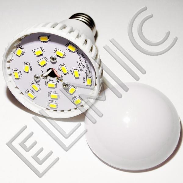 Żarówka LED XH6043 ELMIC 9W E27 - szczegóły budowy żarówki