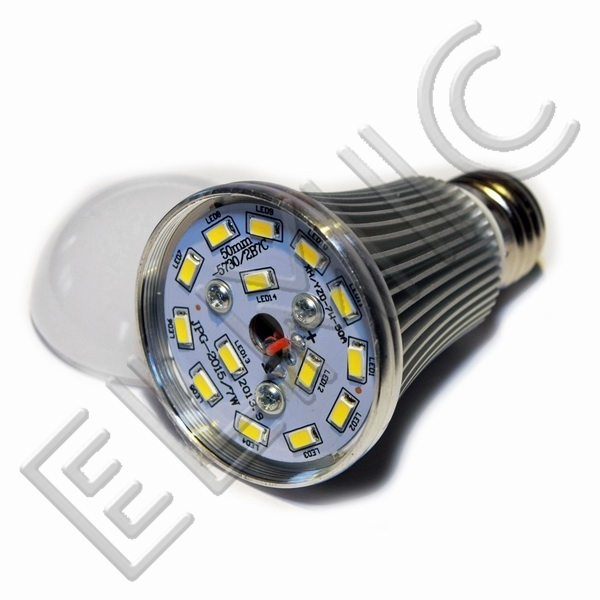 Żarówka LED XH6047 ELMIC 7W E27 - szczegóły budowy żarówki
