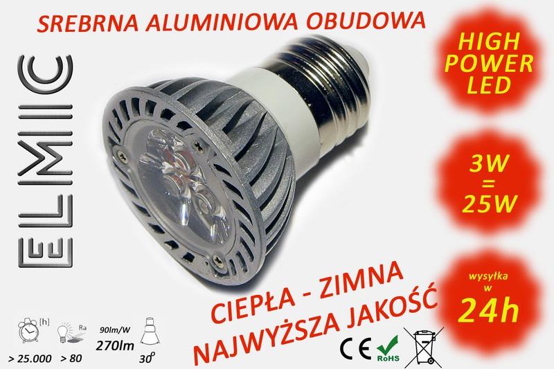 Żarówka ELMIC XH 6628 3W E27 przeźroczysta - zamiennik żarówki halogenowej