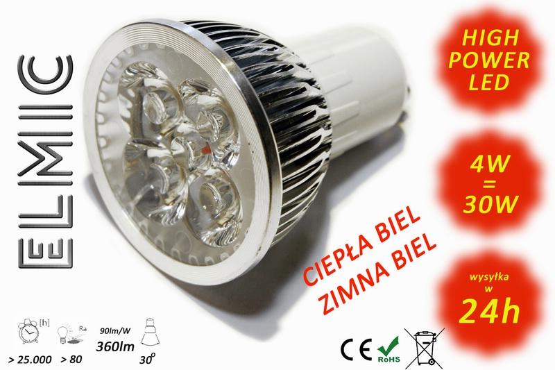 Żarówka LED ELMIC XHS04 4W GU10