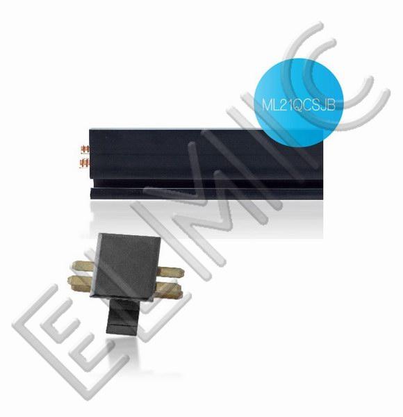 Mainline Power ELMIC Listwa przedłużająca czarna, 2,1 m  ML21QCSJB