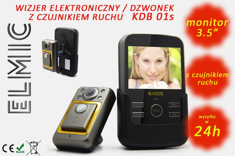 Wizjer elektroniczny do drzwi ELMIC KDB01s